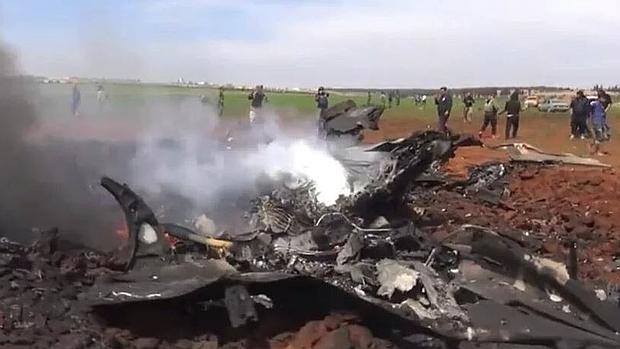 Imágenes de las redes sociales del avión derribado