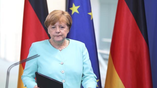 Angela Merkel, en Bruselas