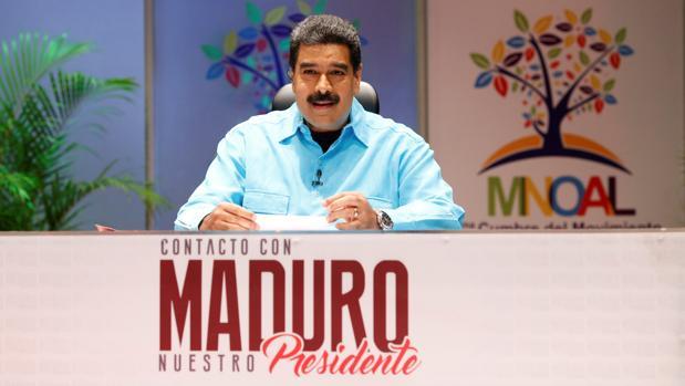 El presidente venezolano, Nicolás Maduro, en su programa de televisión