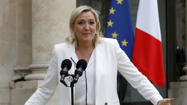 La líder de la extrema derecha francesa, Marine Le Pen