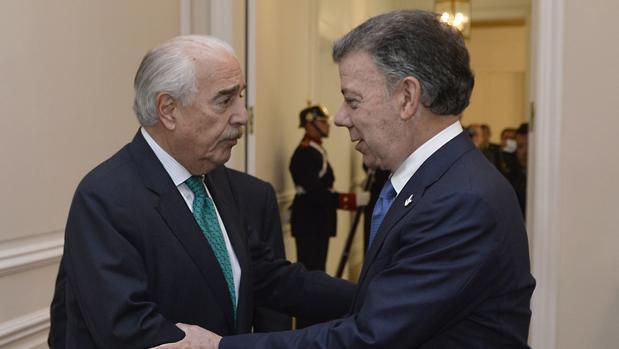 El presidente Juan Manuel Santos y el expresidente Andrés Pastrana se reunieron en la Casa de Nariño, en Bogotá, el pasado 5 de octubre