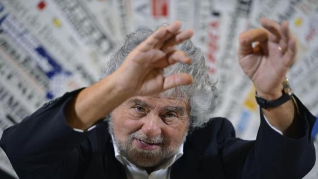 Beppe Grillo, líder del Movimiento 5 Estrellas