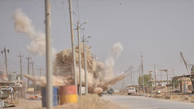 Bombardeo en Mosul