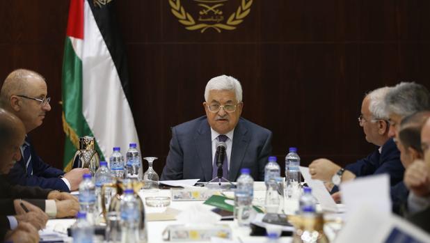Mahmud Abás, el pasado día 13 en el comité ejecutivo de la Organización para la Liberación de Palestina