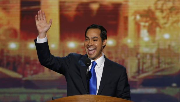 Julián Castro, durante su intervención en la Convención Demócrata de 2012, en Charlotte (Carolina del Norte)