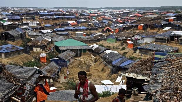 Campo de refugiados rohingyas en Bangladesh