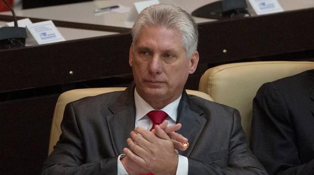 Miguel Díaz-Canel, en abril de 2018, tras ser elegido sucesor de Raúl Castro como presidente de Cuba