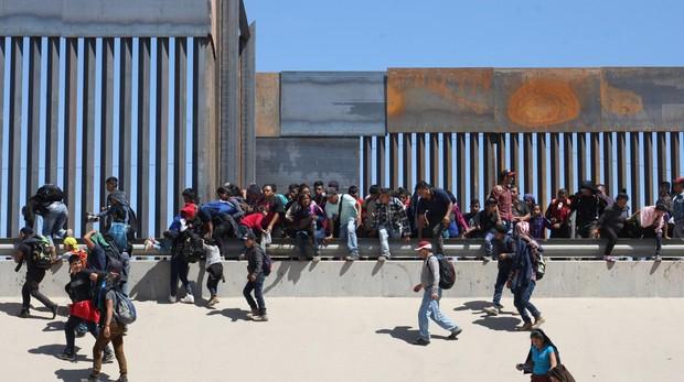 Inmigrantes centroamericanos en Ciudad Juárez, en la frontera con EE.UU.