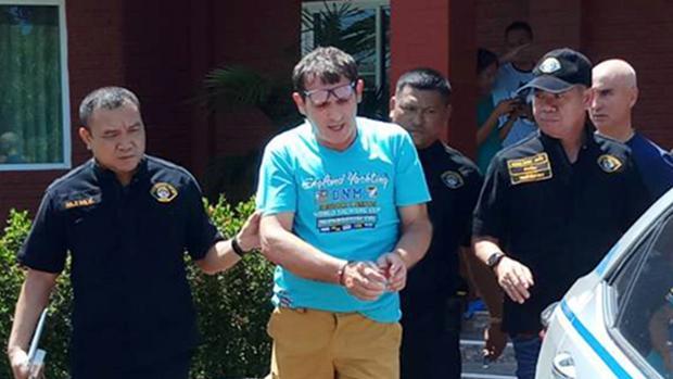 Francesco Galdeli, detenido por la Policía tailandesa