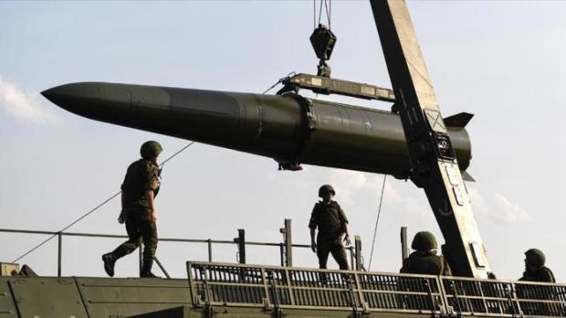 Imagen de archivo de un misil de crucero ruso