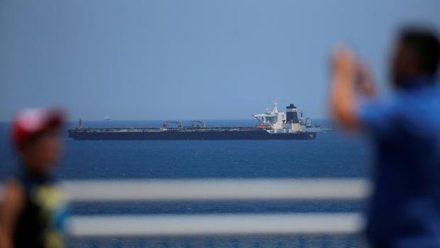 El superpetrolero «Grace 1», retenido hoy en Gibraltar
