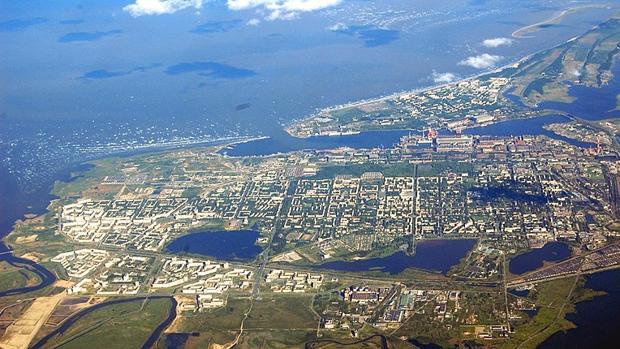 Vista aérea de la localidad rusa de Severodvinsk, donde ha tenido lugar el incidente