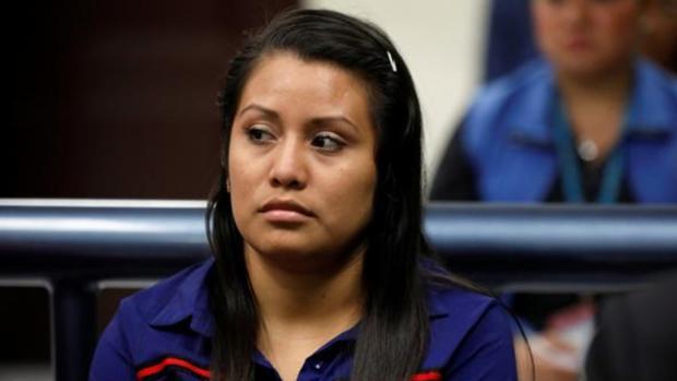 Evelyn Hernández, durante el juicio