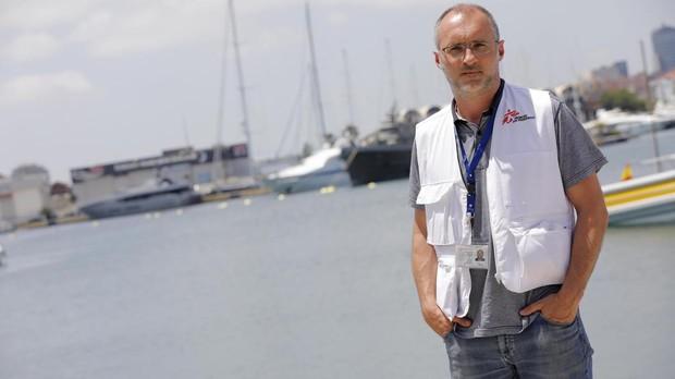 David Noguera posa para ABC en Valencia, tras la llegada del Aquarius, en junio del año pasado