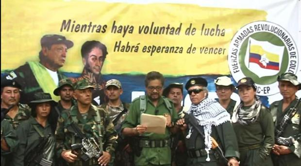 Pantallazo del vídeo donde aparece Iván Márquez