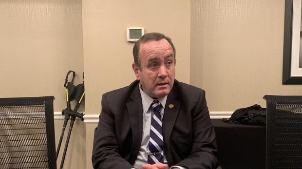 Alejandro Giammattei: «Admito que Guatemala es un problema de seguridad para Estados Unidos»