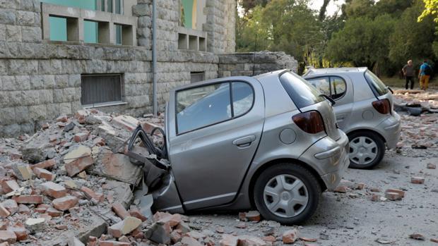 El terremoto ha dejado daños materiales considerables en Tirana