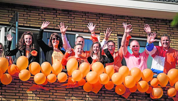 Celebración del día del Rey en Ámsterdam, el 27 de abril