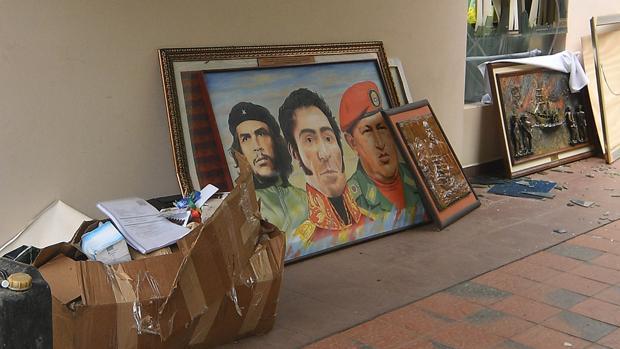 Así ha quedado la casa de Evo Morales después de ser asaltada por los manifestantes