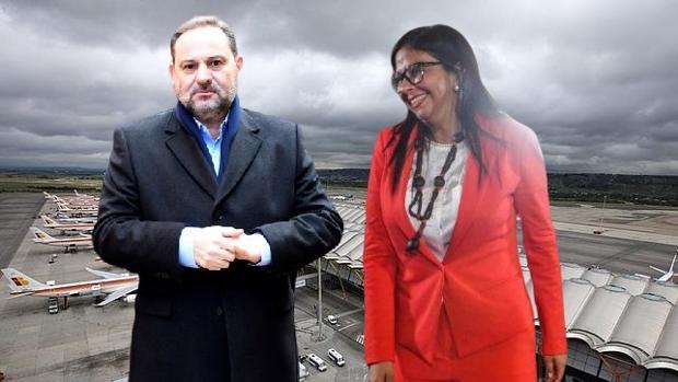 Ábalos se vio en Barajas con la vicepresidenta de Maduro según fuentes policiales y él lo niega