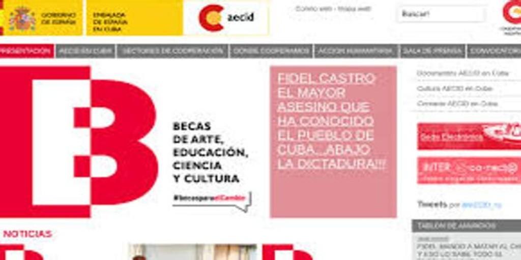Hackean una web del Gobierno español en Cuba con mensajes contra los hermanos Castro