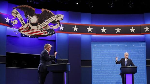 Trump y Biden por fin contraponen ideas en el último debate