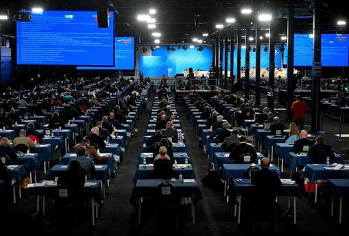 Una imagen del congreso de AfD, que contó con 600 participantes
