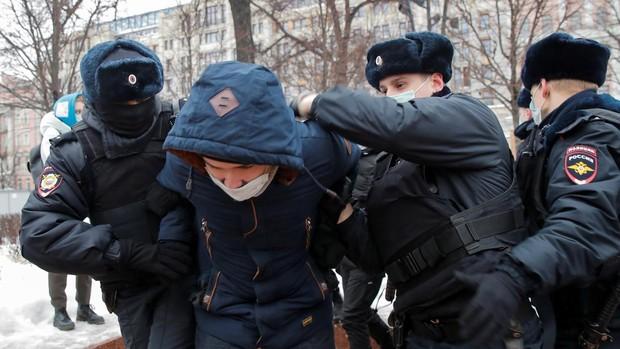 Éxito de la protesta en toda Rusia tras el llamamiento de Navalni