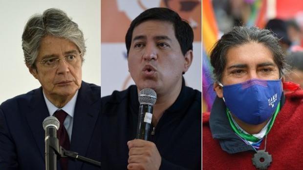 Arauz, Lasso y Pérez, favoritos en las elecciones presidenciales de Ecuador de este domingo