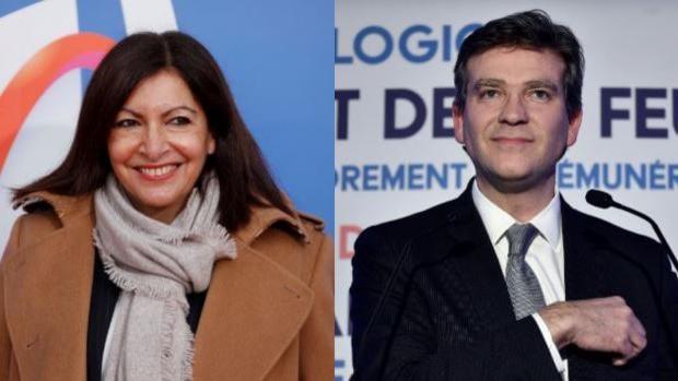 Hidalgo y Montebourg, rivales mal cotizados a la candidatura socialista francés