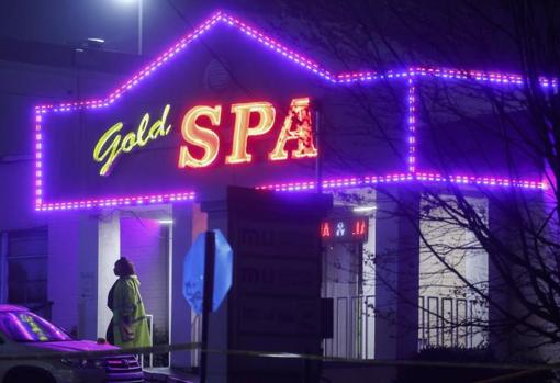 One of the massage parlors in the Atlanta area where the attacks occurred