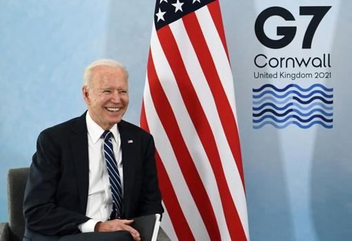 US President Joe Biden in Carbis Bay, Cornwall, UK, to attend the G-7 Leaders Summit