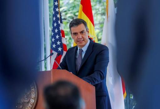 Pedro Sánchez, la semana pasada en California