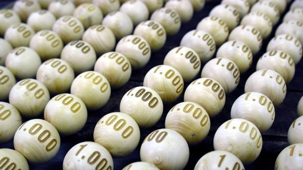 Bolas del sorteo de Lotería de Navidad