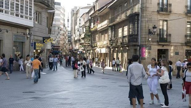 Calle peatonal del centro de Pontevedra