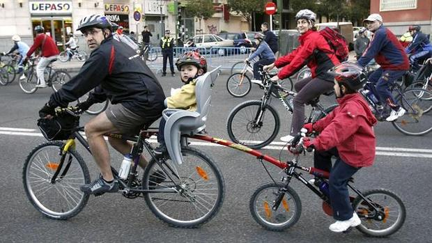 Fiesta de la bicicleta en Madrid