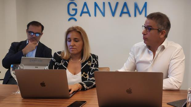 Jaime Barea, Ana Sánchez y Raúl Palacios, de Ganvam