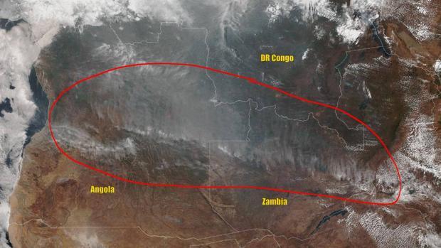 No, fuegos descontrolados no están arrasando el corazón de África
