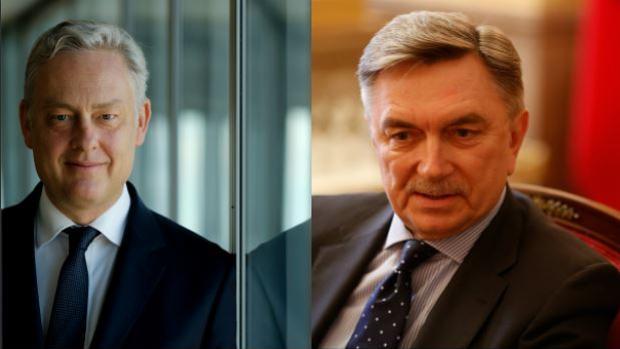 El embajador de Reino Unido en España, Simon Manley y el embajador de Rusia en España, Yuri Korchagin