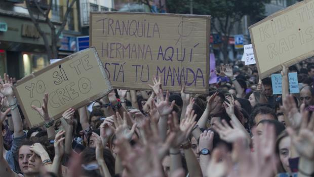 Manifestación contra la sentencia de La Manada en 2018