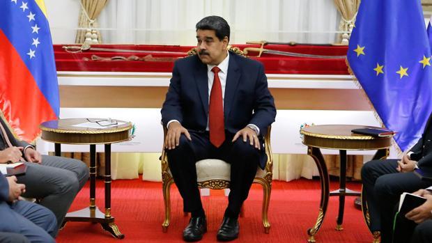 Nicolás Maduro en un encuentro entre representantes de la Unión Europea y otros países latinoamercanos.