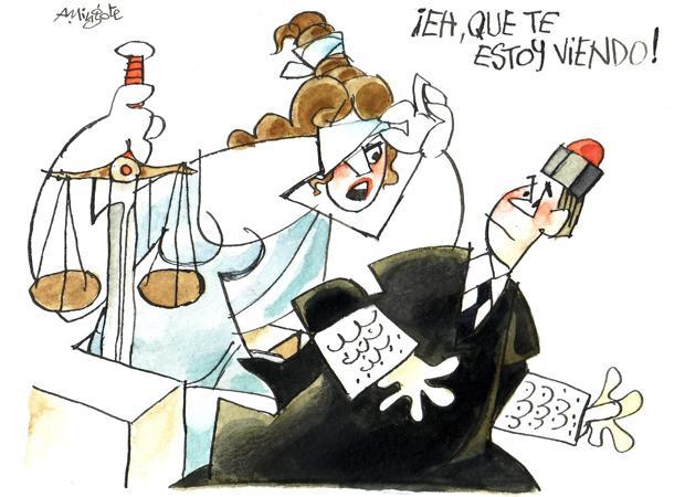 Los jueces vistos por Mingote