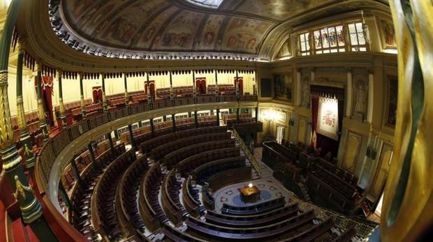 Vista general del hemíciclo del Congreso de los Diputados