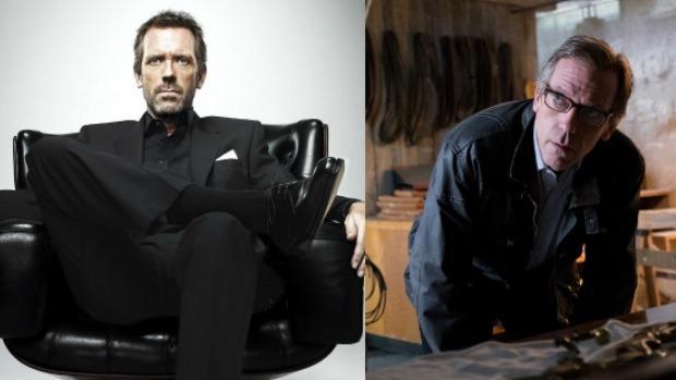 Hugh Laurie como el doctor Gregory House (i) y como Eldon Chance (d) en la nueva serie de Calle 13