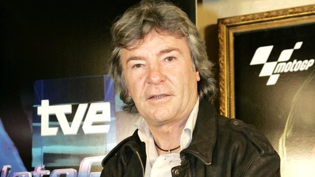 Ángel Nieto, como comentarista de TVE