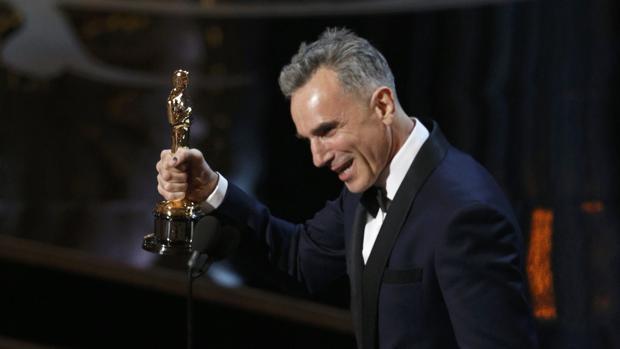 Daniel Day-Lewis, tras ganar el Oscar por «Lincoln»