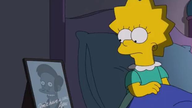 Fotograma de «No good read goes unpunished», el último episodio de «Los Simpson»