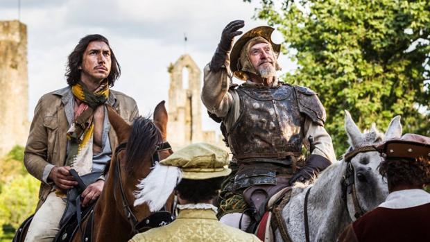 Una escena de «El hombre que mató a Don Quijote», rodada el verano pasado en España