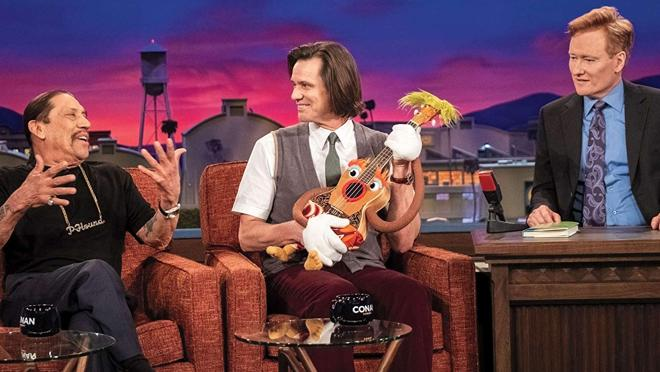 Danny Trejo, Jim Carrey y Conan O'Brien en «Kidding»