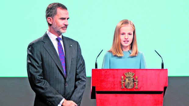 Leonor en su primer discurso en público